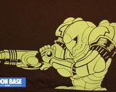 Metroid T-Shirt mint on brown