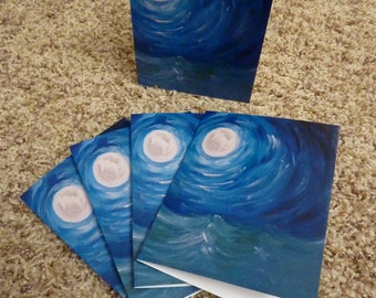 Small Moon over Water Note Cards