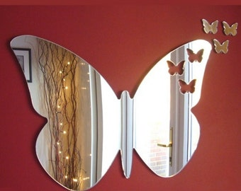 Baby Butterflies out of Butterfly Mirror - Silver MIrrored in several sizes