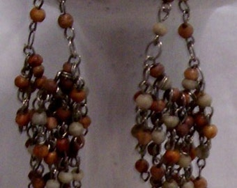 Vintage Beautiful Beaded dangle earrings