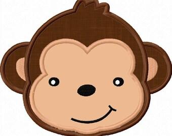 Monkey Applique Machine Embroidery Deisgn NO:0004