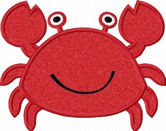 Crab Applique Machine Embroidery Design NO:0014