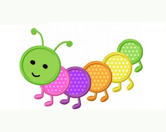 caterpillar Applique Machine Embroidery Design NO:0028