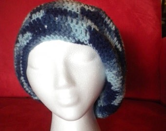 Simple Slouchy Crocheted Hat