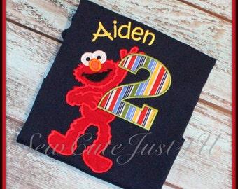 Full Body Elmo Birthday Number Shirt