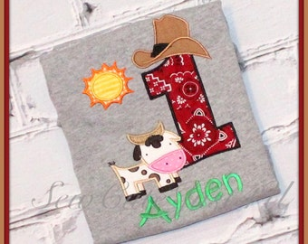 Barnyard Themed Personalized Birthday Number Shirt