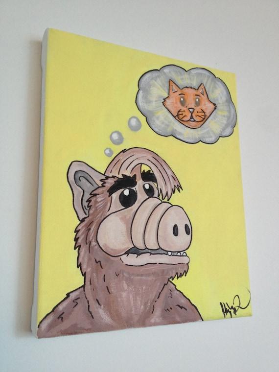 SALE 20% off - Alf original painting