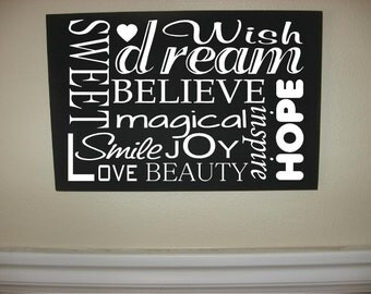 Custom Personalized Wooden sign-Dream