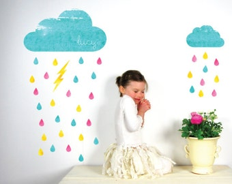 Cloud Wall Decals - Personalized Cloud Fabric Wall Decals