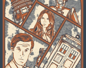 Doctor Who Screen Printed Poster