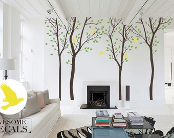 Family Tree Wall Decal Tree Wall Decal Custom Wall Art - Large custom vinyl stickers