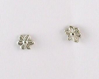 Silver Mini Daisy Stud Earrings