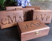 Groomsman or Ring Bearer Box Custom and Personalized Set of Six - MossyHoller