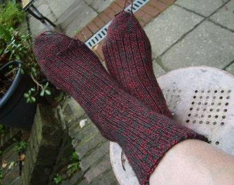 sokken breien stap voor stap op een rondbreinaald.