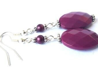 The Color Purple - purple earrings