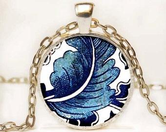 Blue and White Asian Porcelain Pendant Art Pendant Necklace Altered Art Photo Pendant Picture Pendant 13