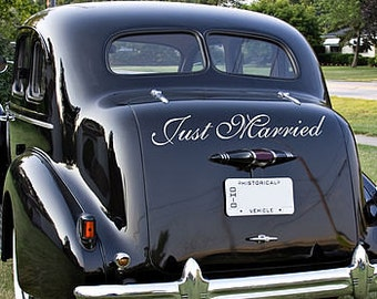 Just Married - Car Decal Sign