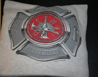 Firefighter Recycled Tshirt Pillow Cover
