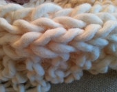 Super Chunky Knitted Throw in Cream