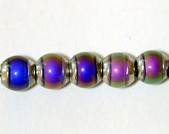 Mirage beads round 5mm color changing mood beads thermosensitive rainbow bead