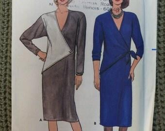 VINTAGE 1980s Butterick DRESS Pattern sz  12 14 16 UNCUT