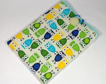 iPad Owl Cover, Handmade Owls iPad Case, Owl iPad Sleeve