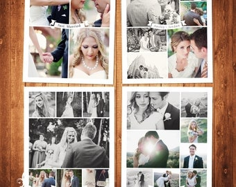 BUY 1 GET 1 FREE Blog Board & Collage Template Photoshop Template Wedding Set Instant Download: blog board code -226