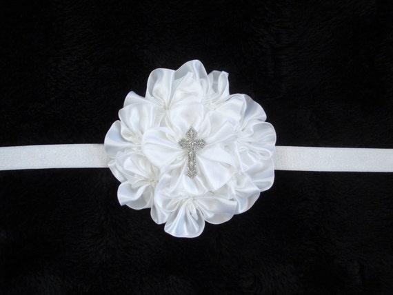 Items Similar To 15 Off Baby Baptism Cross Headband Baby