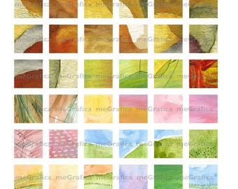 1 inch Squares Digital Collage Sheet Instant Download Abstract Art Minimalistic Art Collage Sheet