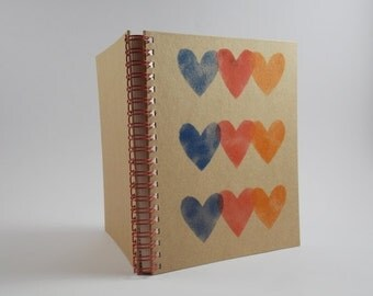 Full of colour, heart notebook