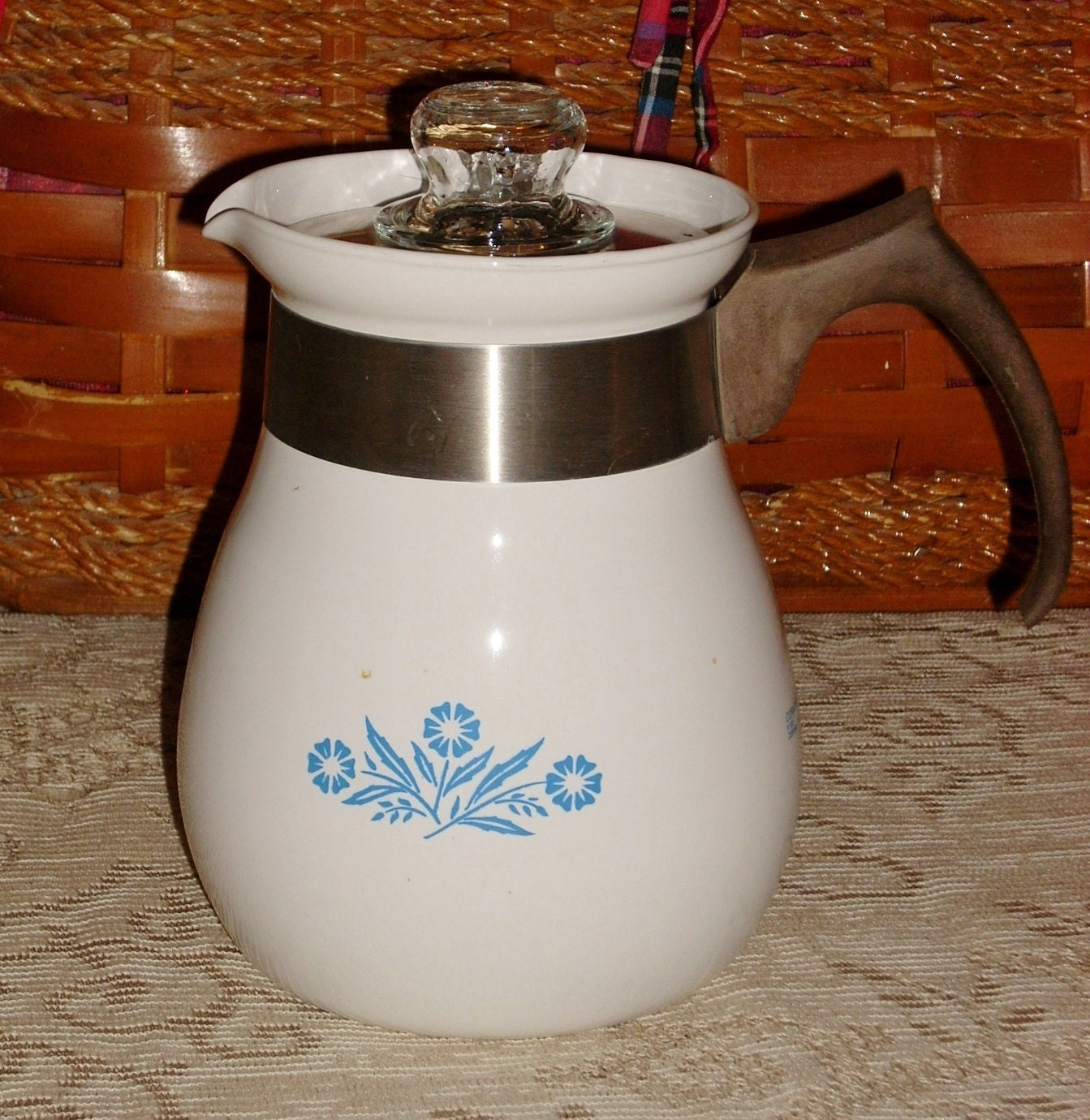 Vintage Corning Ware Coffee Pot And Parts By Seabyrdvintage