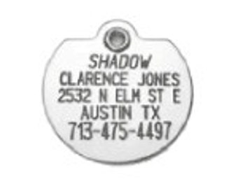 Personalized Stainless Steel Pet Dog or Cat ID Tags Engraved Identification