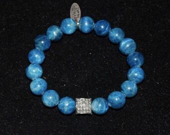 Blue Appetite and Pave Diamond Pillow Bracelet