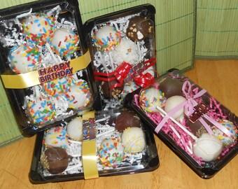 Happy Birthday Cake Pop Gift Box