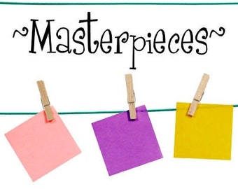 Masterpieces vinyl wall decal - large size