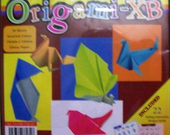 40 Glossy Origami Paper Assorted Color 145mm x 145mm