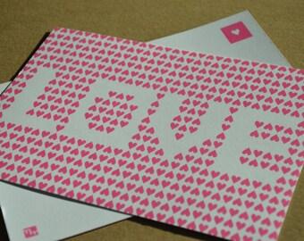 Love Postcard (pink)