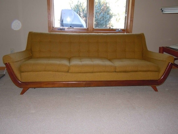 Adrian pearsall style gondola sofa norwalk furniture for Norfolk furniture
