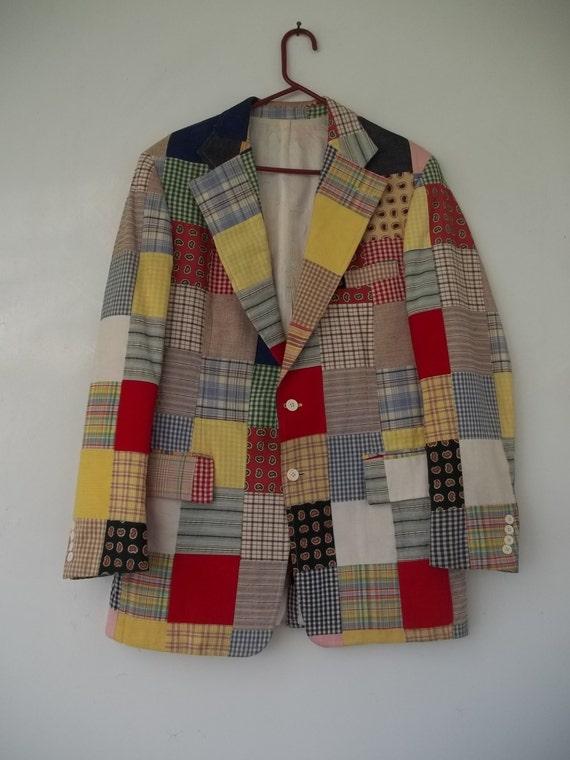 Men's Large to X-Large patchwork suit jacket
