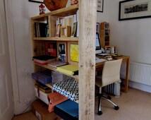 Room Divider / Shelving Unit. Wooden shelving unit