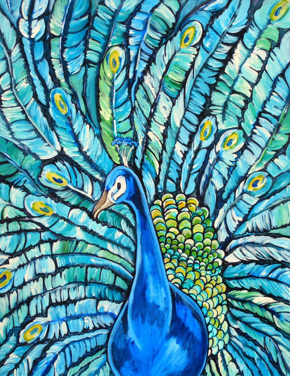Peacock feather paintings - photo#54