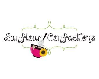 Small Business Logo, Sunflower Logo Design, Custom Business Design And Branding