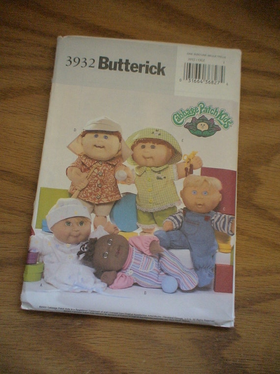 cabbage patch baby doll clothes sewing pattern by