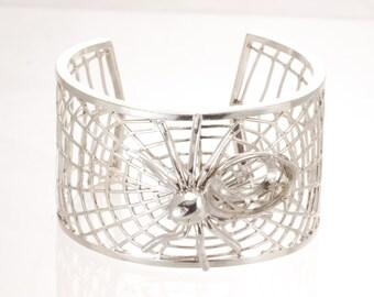 Silver cuff , sterling bangle bracelet