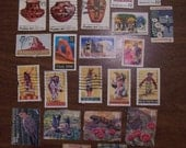Used postage stamps with a Southwestern theme