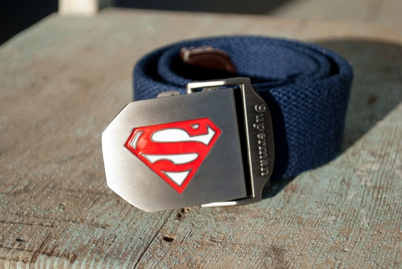 Boys Blue Superman Belt