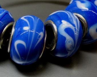 4 Lampwork European Beads - Item 50914
