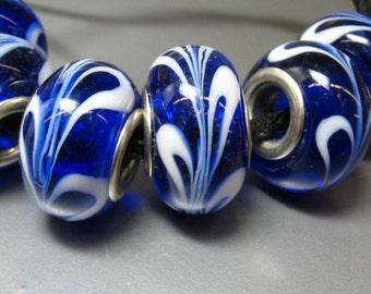 4 Lampwork European Beads - Item 50915