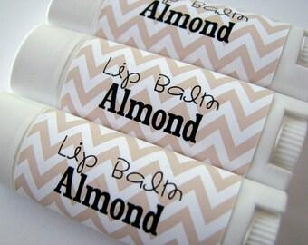 Almond Flavor - Vegan Lip Balm - Natural Lip Butter - Bath and Beauty - no beeswax - Bath and Body