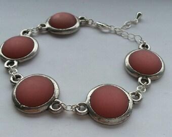 Dark salmon colored bracelet